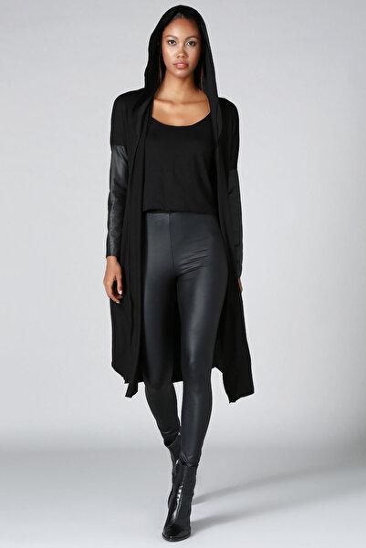 Quincey Kadın Siyah Triko Hırka HK2103
