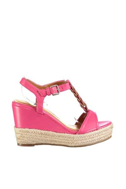 Derimod Pembe Kadın Dolgu Topuklu Ayakkabı