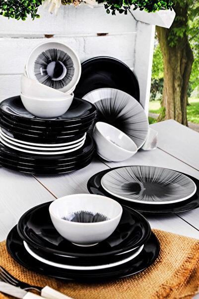 Keramika 24 Parça 6 Kişilik Bing Bang Yemek Takımı