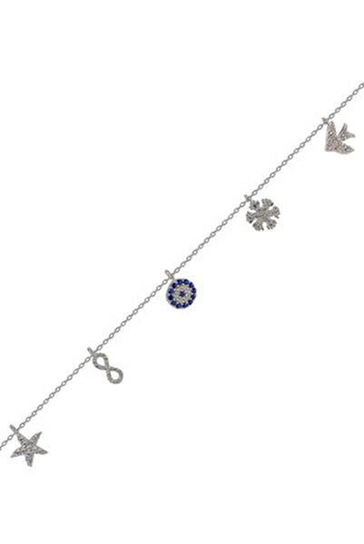 Kadın 925 Ayar Gümüş Şans Bilekliği SGTL4488