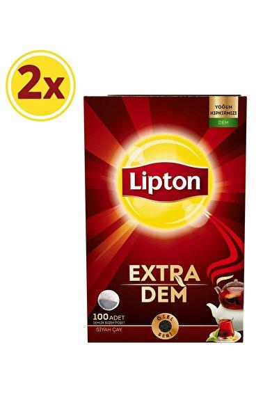 Lipton Extra Dem Demlik Poşet Çay 100'lü x 2 Adet
