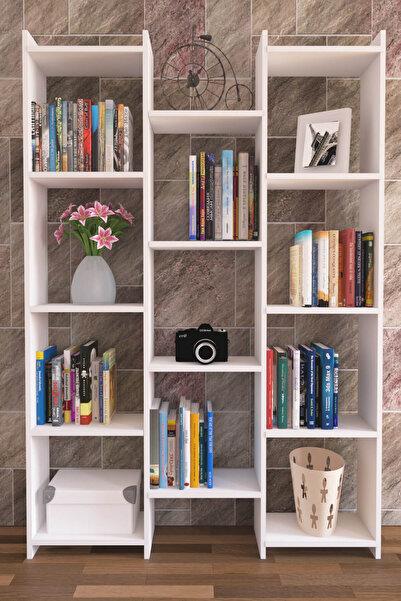 Nur Mobilya Alisa Modern Kitaplık Beyaz