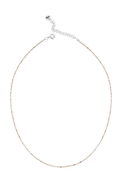 BENDİS Kadın Rose-Gümüş Katmer Aynalı Tekli Kolye C557