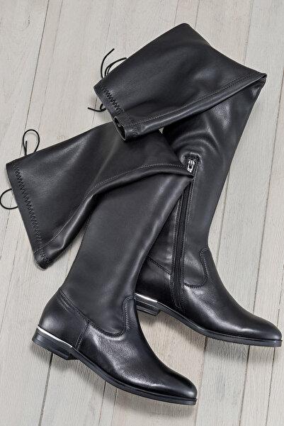 Elle Shoes EUGENIE Hakiki Deri Siyah Kadın Çizme