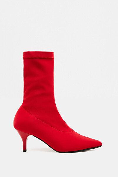 Koton Kadın Kırmızı Çorap Bot 9KAK20918AA