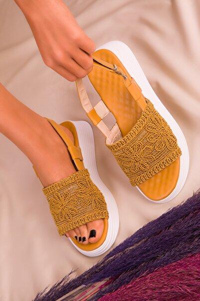 SOHO Hardal Sarı Kadın Sandalet 16207
