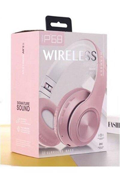 Egonex P68 Bluetooth Kulaklık Pembe