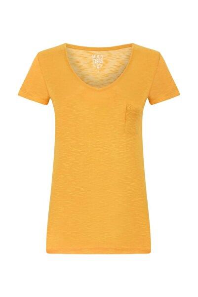 Mudo Kadın Oranj V Yaka T-shirt 1191321