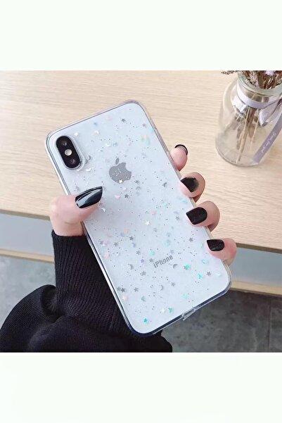 Kılıfsiparis Apple Iphone X / Xs Şeffaf Simli Silikon Telefon Kılıfı