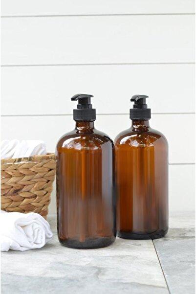 GO BLOBS 500ml Amber Kahverengi Cam Sıvı Sabunluk