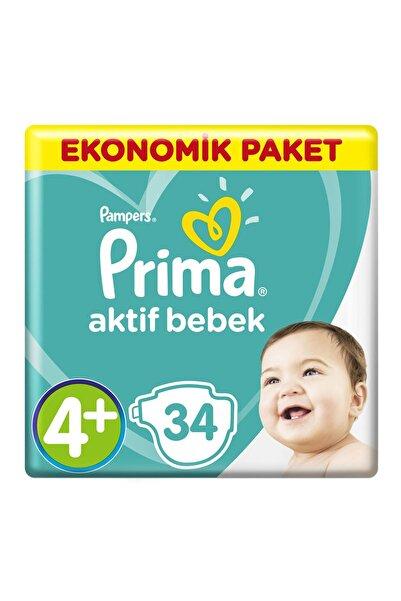 Prima Aktif Bebek Ekonomik Paket Maxi Plus- 4+ Beden 34 Adet