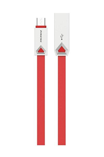 Pineng PN-309 Yüksek Hızlı Micro USB 1 Metre Kırmızı Data Şarj Kablosu
