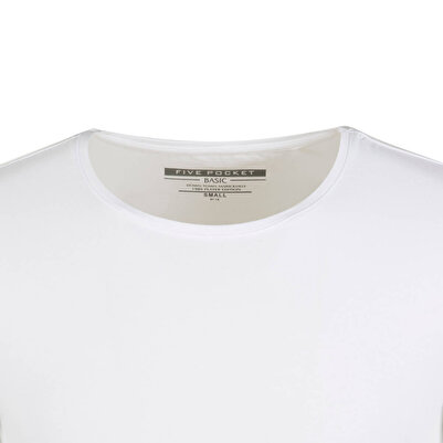 Five Pocket Erkek Beyaz T Shırt - 1073