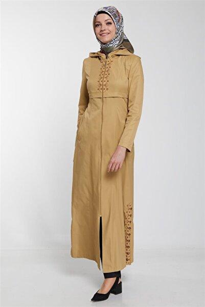Doque Kadın Bej Pardesü Doque-DO-B9-55042
