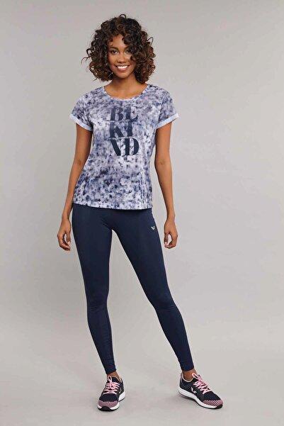 bilcee Lacivert Pamuk/Poly Kadın T-Shirt ES-3592