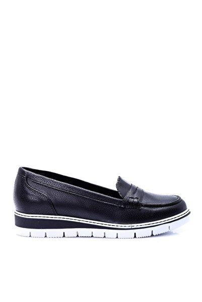 Derimod Siyah Kadın Loafer Ayakkabı