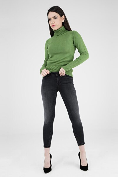 Five Pocket Kadın Siyah Jeans 8508D2901Sandra