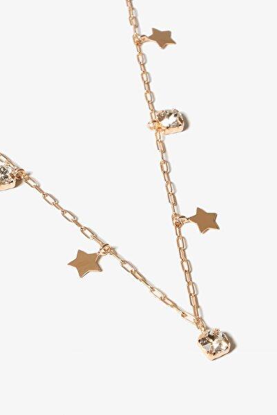 Lapidore Kadın Star Tiffany Dizayn Swarovski Taşlı Rose Gold Kolye LTK192080K