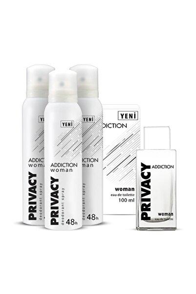Privacy Addiction Edt Kadın Parfüm 100 ml + 3'lü Deodorant 150 ml ADD1-2
