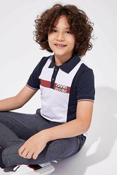 DeFacto Erkek Çocuk Renk Bloklu Kısa Kollu Polo Tişört
