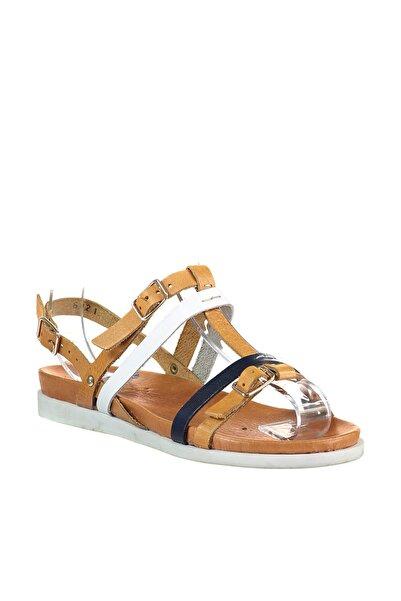 İnci Hakiki Deri Taba Kadın Sandalet 120118888420