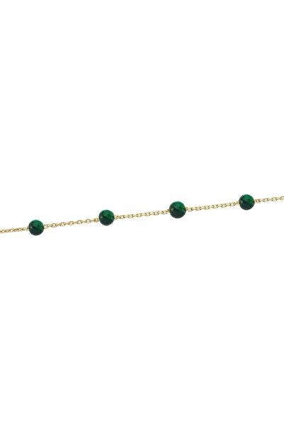 Glorria Kadın Altın Yeşil Taşlı Bileklik DM0050-Y