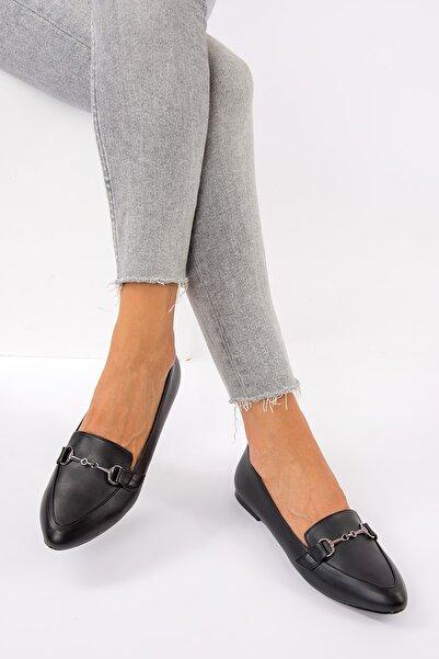 Fox Shoes Siyah Kadın Babet G290010009
