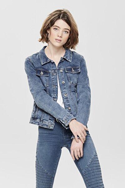 Only Kadın Mavi Kot Ceket 15170682 ONLTIA