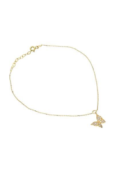 Glorria Kadın Altın Kelebek Halhal VK0670