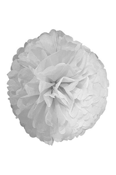 Parti dolabı 1 Adet Beyaz Ponpon Gramafon Çiçek Kağıt Doğum Günü Parti Süsü