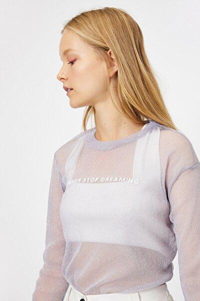 Koton Kadın Mor T-Shirt 0KAL18188OK