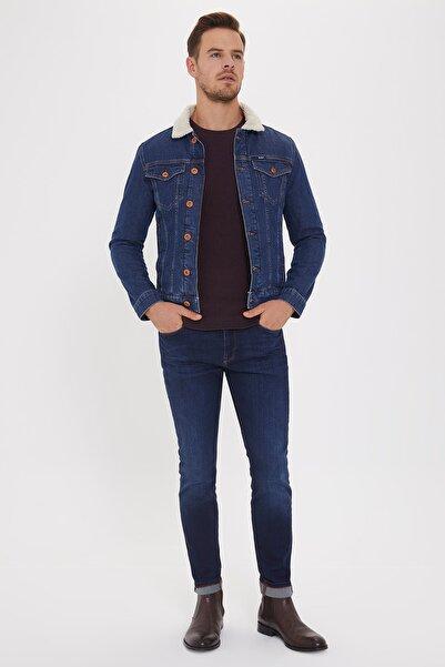 Lee Cooper Erkek Puebla 8 Kürklü Jean Ceket 201 LCM 131003