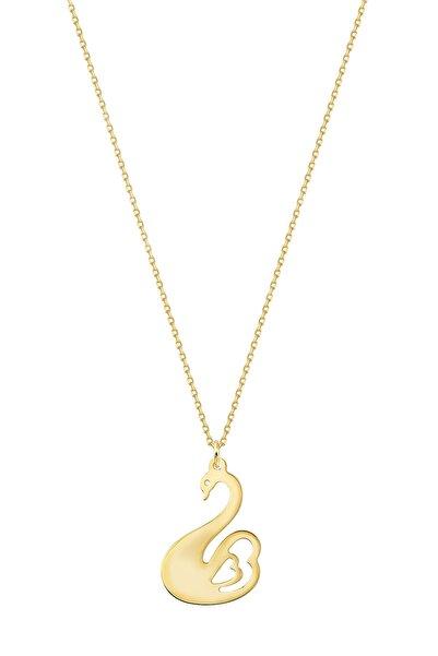Altınbaş Kadın Altın Kuğu Kolye KLMK708-24754