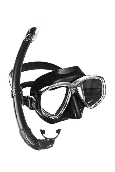 Cressi Perla Maske Mexico Şnorkel Seti BLACK
