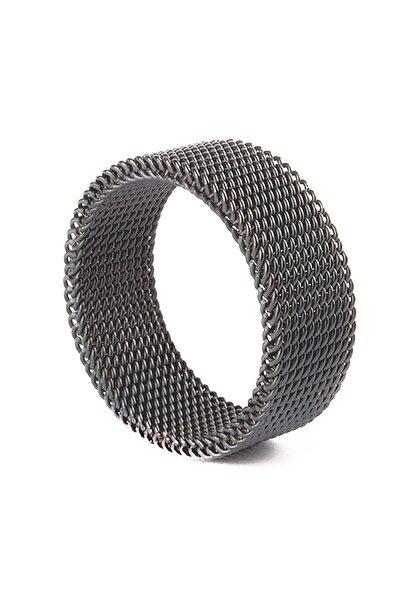 Chavin Kadın Erkek Esnek Çelik Örgü Siyah Yüzük n37