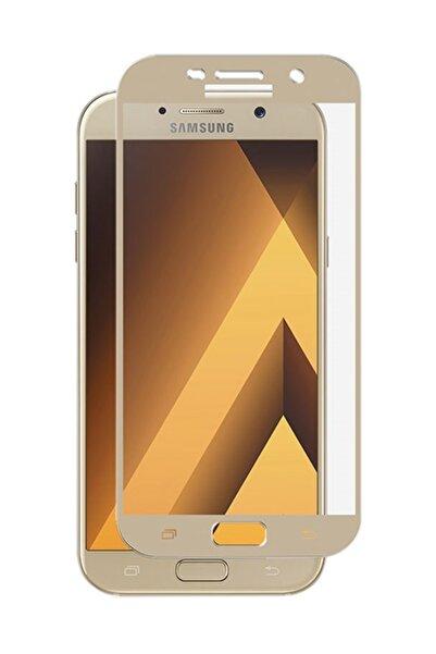 Microsonic Galaxy A3 2017 3d Kavisli Temperli Cam Ekran Koruyucu Kırılmaz Microsonic Film Gold