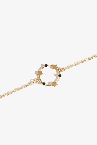 Lapidore Kadın Andromeda Black Taşlı Rose Gold Bileklik LBS1021