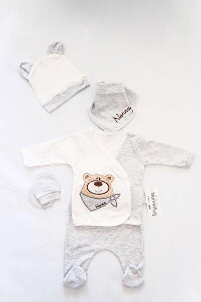 Nonna Baby Erkek Bebek Ayıcık 5'li Zıbın Set Hastane Çıkışı