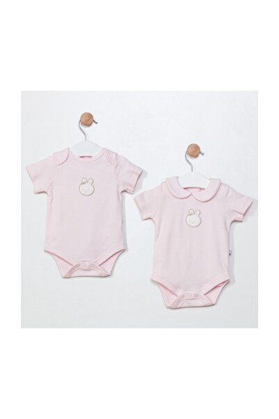 Funna Baby Grande Famiglia 2'li Body Set- Pembe