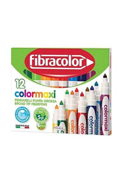 Fibracolor Colormaxi Yıkanabilir Su Bazlı Jumbo Keçeli Kalem 12 Renk 5644789