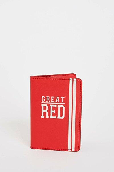 DeFacto Kadın Kırmızı Baskılı Pasaport Kılıfı M2889AZ.19SM.RD2