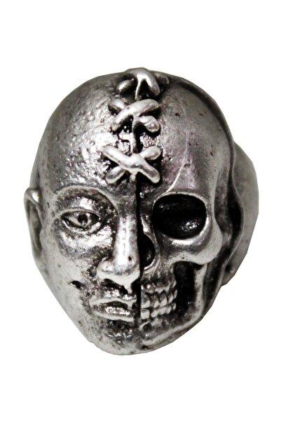 Modaroma Dikişli Kuru Kafa Gümüş Kaplama Yüzük