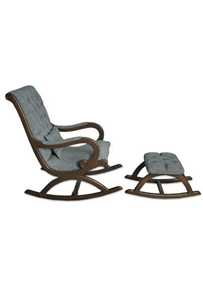 Asedia Rustik Ceviz-gri Sallanan Sandalye