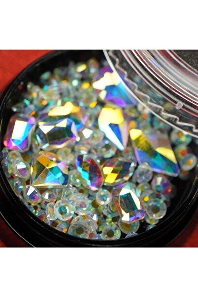 EDA LUXURY BEAUTY Renkli Lüks 3d Kristal Taş Gem Parlak Dekorasyon Makyaj Crystal Rhinestones Nail Art Tırnak Süsleme