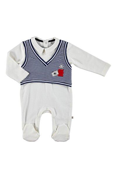 For My Baby Bebek Mini Süveter Detaylı Patikli Tulum