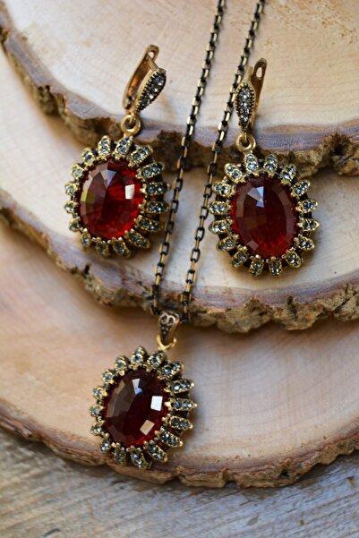 Stoneage Jewellery Yakut Taşlı Set