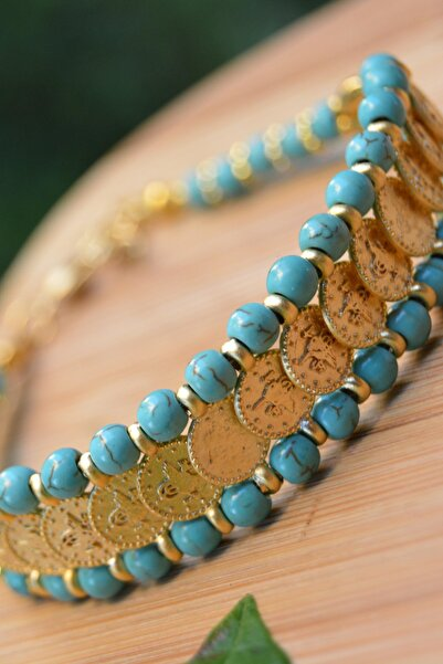 Stoneage Jewellery Turkuaz Tuğraıı Bileklik