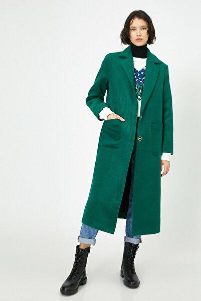 Koton Kadın Yeşil Dügme Detayli Kaban 0KAK06547EW