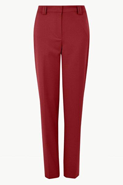 Marks & Spencer Kadın Kırmızı Relaxed Straight Leg Pantolon T59005626