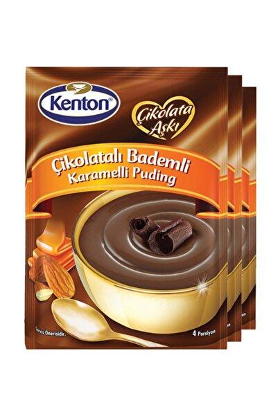 Kenton Puding Çikolata Aşkı Çikolata Badem Karamelli 100 Gr X 3'lü Paket